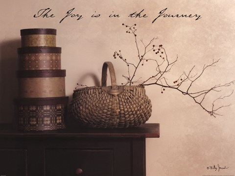 Framed Joy is the Journey Print