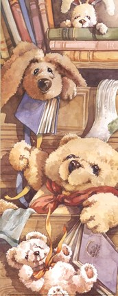 Framed Teddy Bear Sleepytime Print