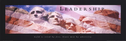 Framed Leadership-Mt. Rushmore Print