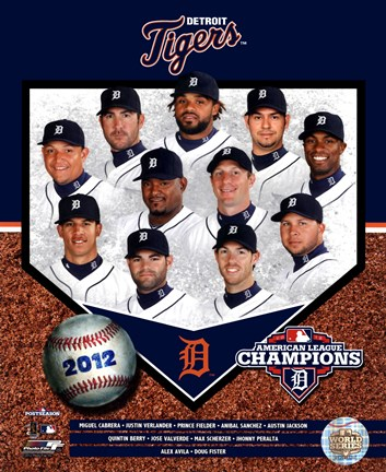 Framed Detroit Tigers 2012 American League Champions Composite Print