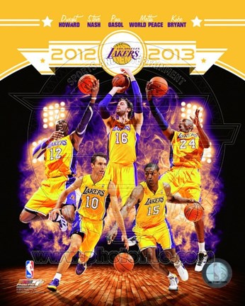 Framed 2012-13 Los Angeles Lakers Team Composite Print