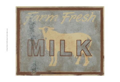 Framed Milk Print