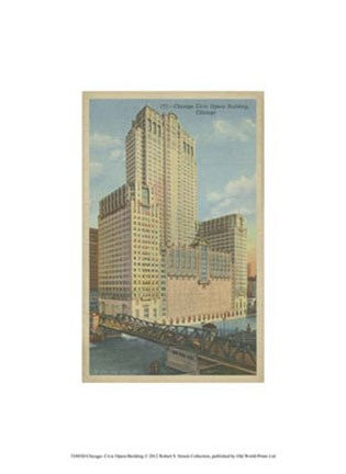 Framed Chicago- Civic Opera Building Print