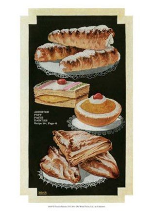 Framed French Pastries II Print