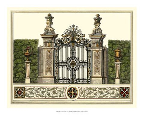 Framed Grand Garden Gate III Print