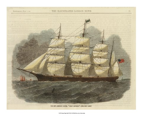 Framed Antique Clipper Ship IV Print