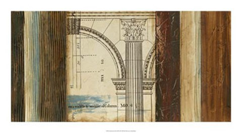 Framed Architectural Archive III Print