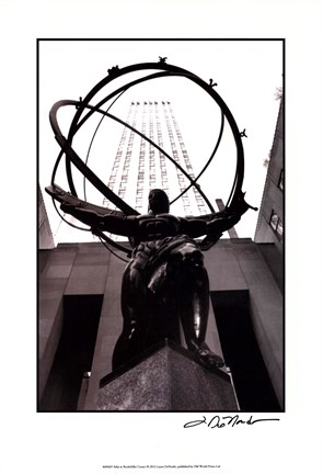 Framed Atlas at Rockefeller Center Print