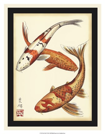 Framed Koi Fish I Print