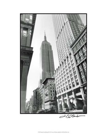Framed Empire State Building III Print