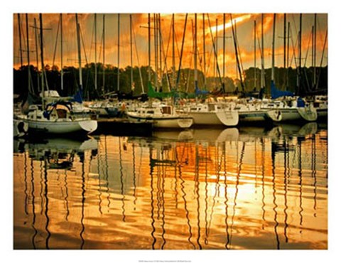 Framed Marina Sunrise I Print
