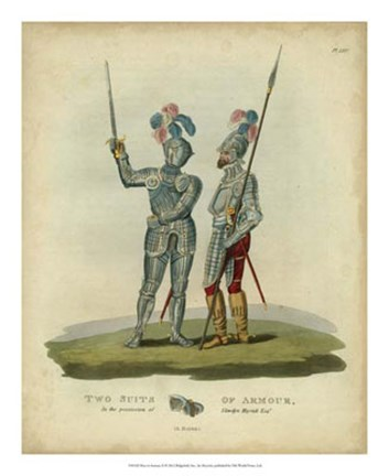 Framed Men in Armour II Print