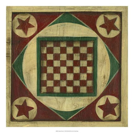 Framed Antique Checkers Print