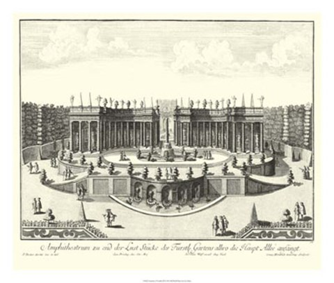 Framed Fountains of Versailles III Print