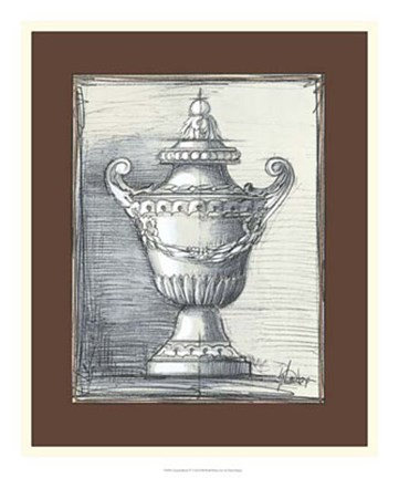 Framed Classical Sketch IV Print