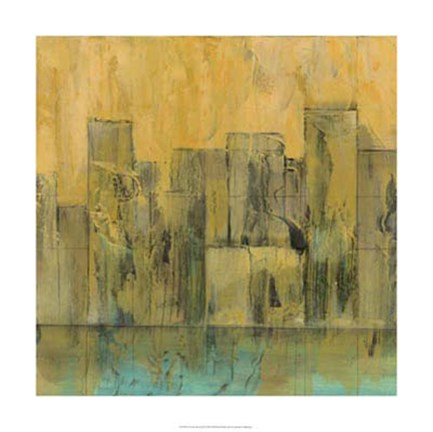 Framed City by the Sea II Print
