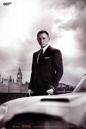 Framed James Bond - Skyfall - DB5 Print