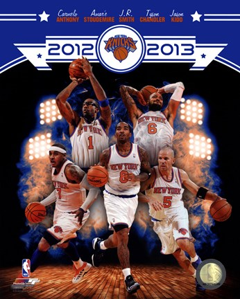 Framed New York Knicks 2012-13 Team Composite Print