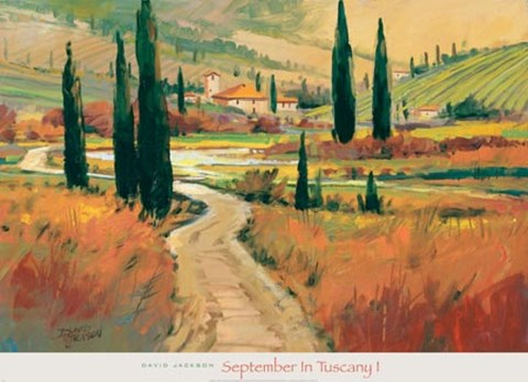 Framed September in Tuscany I Print