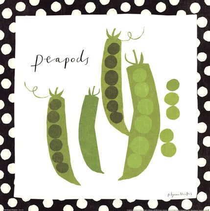 Framed Simple Peapods Print