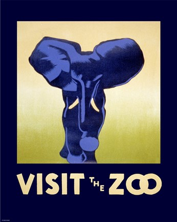 Framed Visit the Zoo Print