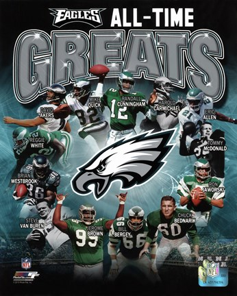 Framed Philadelphia Eagles All Time Greats Composite Print