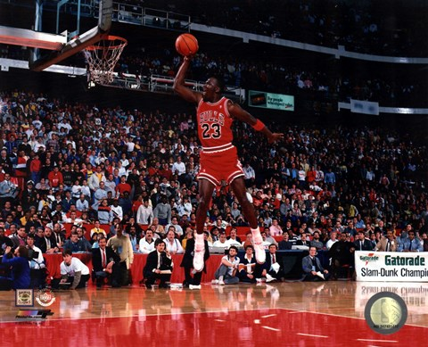 Michael Jordan 1988 Nba Slam Dunk Contest Action Fine Art