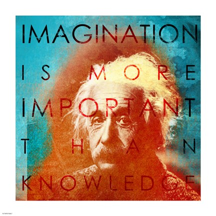 Framed Einstein - Imagination Quote Print