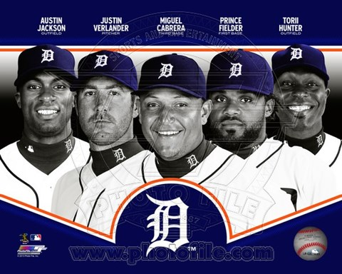 Framed Detroit Tigers 2013 Team Composite Print