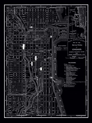 Framed Chicago, 1895 Print