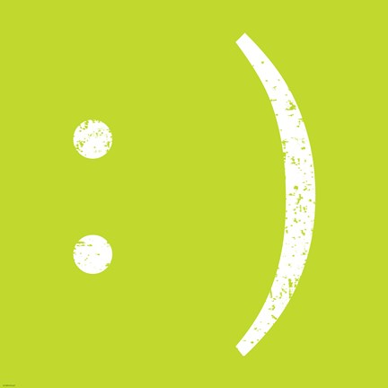 Framed Lime Smiley Print