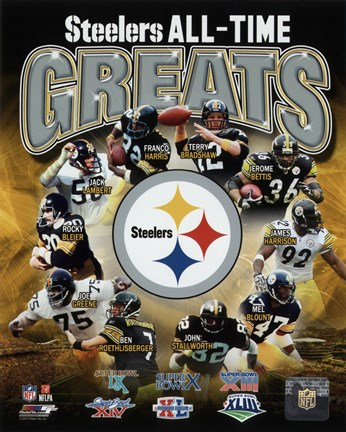 Pittsburgh Steelers All Time Greats Composite Fine Art