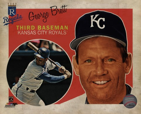 Framed George Brett 2013 Studio Plus Print