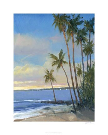 Framed Tropical Breeze I Print