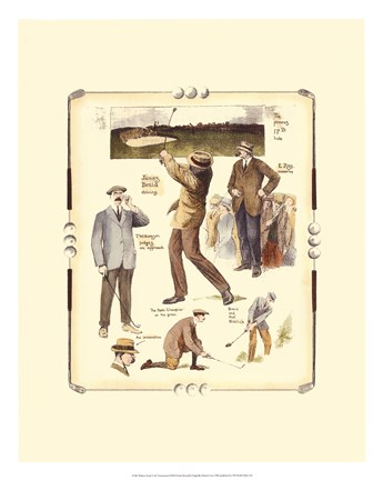 Framed Walton Heath Golf Tournament Print