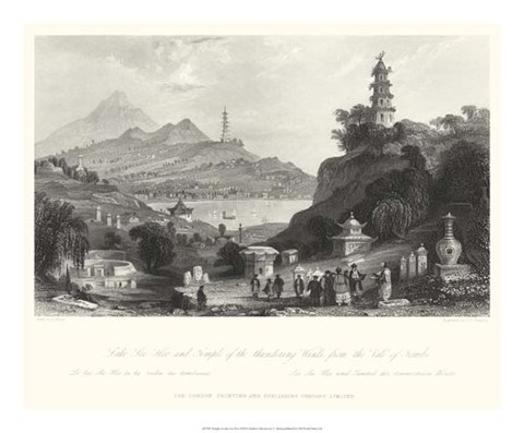 Framed Temple, at Lake Lee-Hoo Print