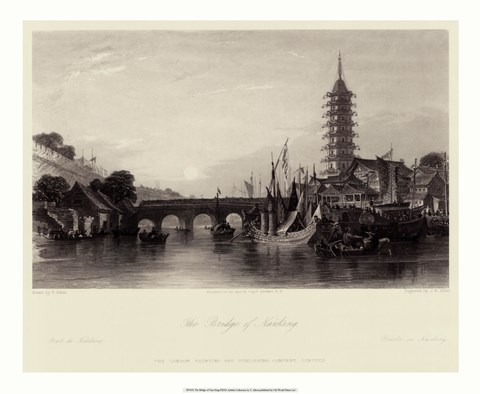 Framed Bridge of Nanking Print