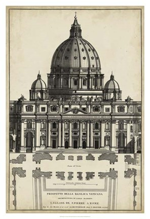 Framed Basilica at the Vatican Print