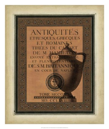 Framed Antiquities Collection I Print