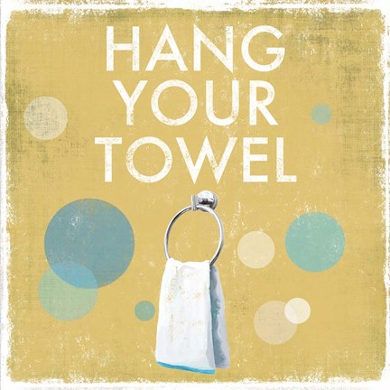 Framed Hang your Towel Print