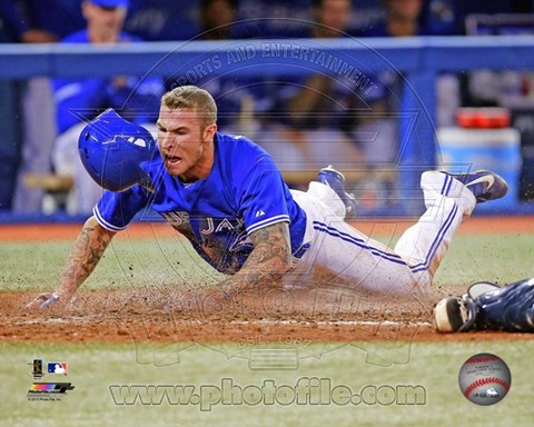 Framed Brett Lawrie 2013 Action Print