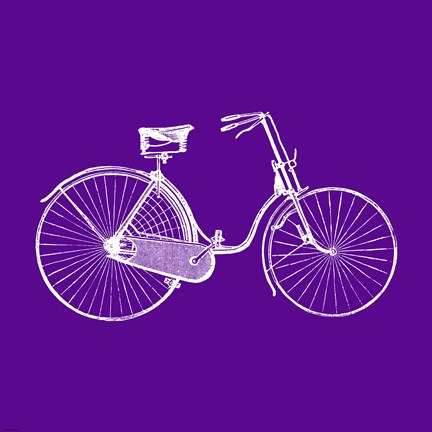 Framed Purple Bicycle Print