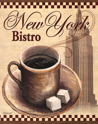 Framed New York Bistro Print
