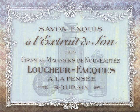 Framed French Soap Label II Print