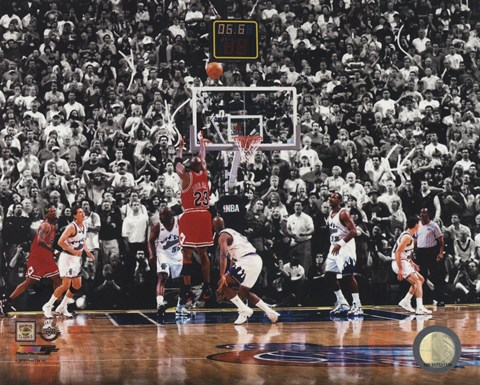 Michael Jordan 1998 NBA Finals Game Winning Shot Fine Art Print by Unknown at FulcrumGallery.com