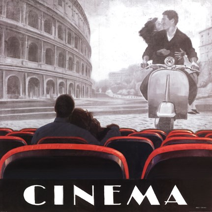 Framed Cinema Roma Print
