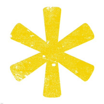 Yellow Asterisk Fine Art Print By Veruca Salt At