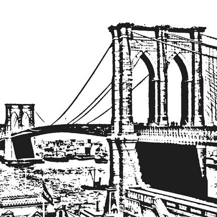 Black Brooklyn Bridge Fine Art Print by Veruca Salt at ...