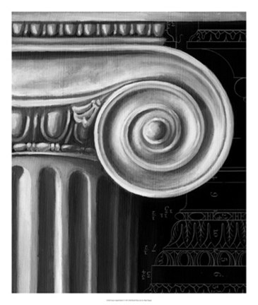 Framed Ionic Capital Detail I Print