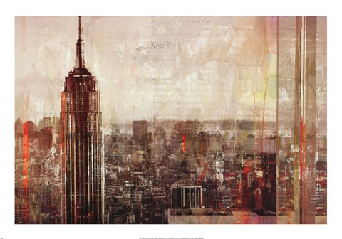 Framed Shades of New York Print